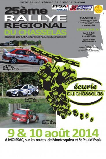 Affiche rallye chasselas 2014