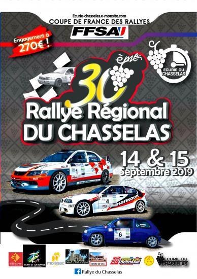 Affiche rallye chasselas 2019 moissac le 30eme